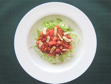 完熟トマトのタコライスの具